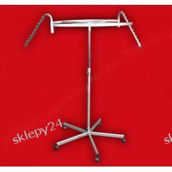Stojak KOŁO - KRZYŻAK regulowane ramiona - 180 cm srebrny