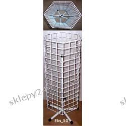 Obrotowy ekspozytor na biżuterię - 150 cm - biały