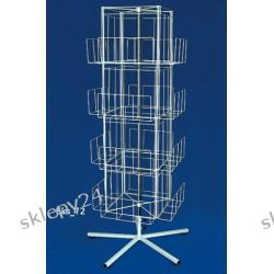 Ekspozytor obrotowy na teczki - 190 cm - srebrny