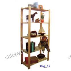 Regał drewniany - 170/80/40 cm - 5 półek