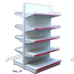 Segment regałowy podwójny 120/200 cm z 10 półkami
