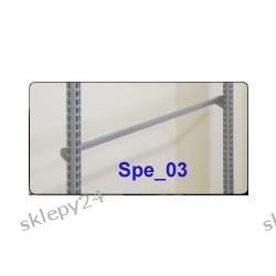 Poprzeczka prosta - chrom - 90 cm