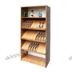 Regał na ALKOHOL ze Skośnymi Półkami - 180x80x40cm [reg_308]