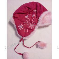 Czapka zimowa różowa -futrzak Odzież