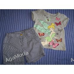 Komplecik na lato H&M Dzwoneczek roz.110-116 Inne spodnie