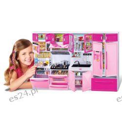 KUCHNIA mebelki Barbie 4 moduły światło EduCORE Mebelki dla lalek