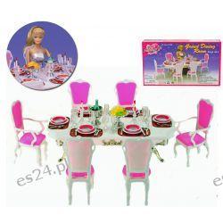 JADALNIA GOLD akcesoria mebelki Barbie EduCORE Dla Dzieci