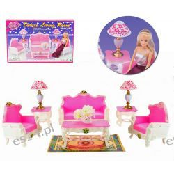 SALON GOLD sofa fotel mebelki Barbie EduCORE Mebelki dla lalek
