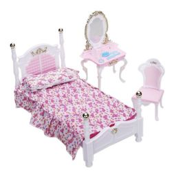 SYPIALNIA GOLD łóżko lustro mebelki Barbie EduCORE Mebelki dla lalek