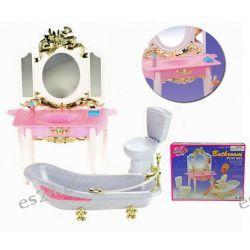 ŁAZIENKA ZŁOTA GOLD wanna mebelki Barbie EduCORE Dla Dzieci