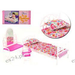 SYPIALNIA łóżko toaletka mebelki Barbie EduCORE Dla Dzieci