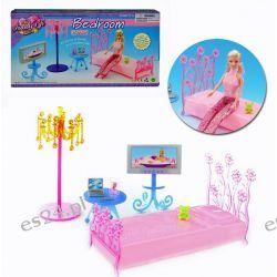 Sypialnia FUN łóżko TV mebelki Barbie EduCORE Dla Dzieci