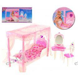 Sypialnia baldachim HEART mebelki Barbie EduCORE Dla Dzieci