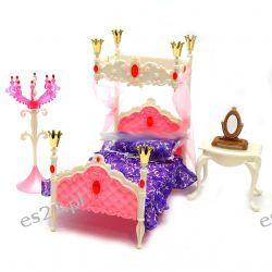 Sypialnia królewska KING mebelki Barbie EduCORE Mebelki dla lalek