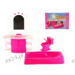 ŁAZIENKA wanna ROSE lustro mebelki Barbie EduCORE Dla Dzieci