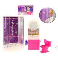 Łazienka TOP prysznic kabina mebelki Barbie EduCORE Mebelki dla lalek
