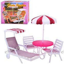 OGRÓD stół parasol mebelki Barbie EduCORE PROMOCJA