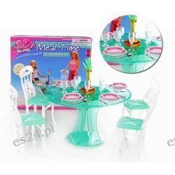 Jadalnia TRENDY okrągły stół mebelki Barbie EduCORE Dla Dzieci