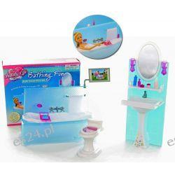 Łazienka TRENDY wanna telewizor meble dla Barbie EduCORE Dla Dzieci