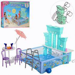 Basen z kolumnami TRENDY meble dla Barbie EduCORE Dla Dzieci