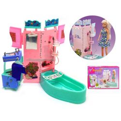 Łazienka FUTURO wanna meble dla Barbie EduCORE