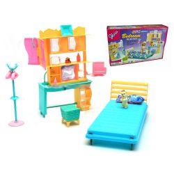 Sypialnia FUTURO pokój nastolatki meble dla Barbie EduCORE Mebelki dla lalek
