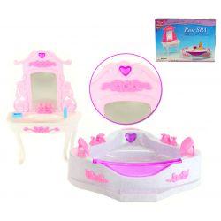 Łazienka HEART SPA meble dla Barbie EduCORE