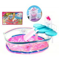 Basen HEART fontanna ślizg mebelki Barbie EduCORE Mebelki dla lalek
