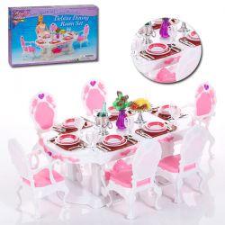 Jadalnia HEART 78 elem mebelki Barbie EduCORE Dla Dzieci