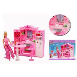 Kuchnia HEART światło mebelki Barbie EduCORE Mebelki dla lalek