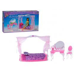 Sypialnia HEART owalna meble dla Barbie EduCORE Mebelki dla lalek