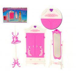 Szafa HEART z lustrem mebelki dla Barbie EduCORE Dla Dzieci