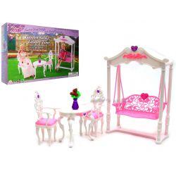 Huśtawka HEART ogrodowa meble dla Barbie EduCORE Mebelki dla lalek