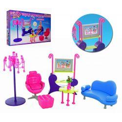 Salon FUN TV sofa fotel mebelki Barbie EduCORE Mebelki dla lalek