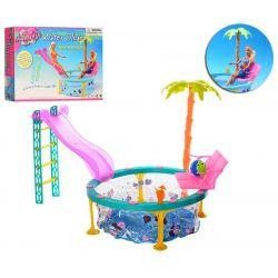 Basen TOP PALMA okrągły meble dla Barbie EduCORE Dla Dzieci