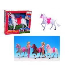 KOŃ KUCYK  z uprzężą 3 kolory dla Barbie EduCORE Dla Dzieci