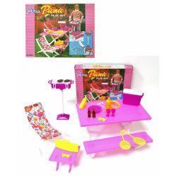 PIKNIK BBQ leżak grill meble dla Barbie EduCORE Dla Dzieci