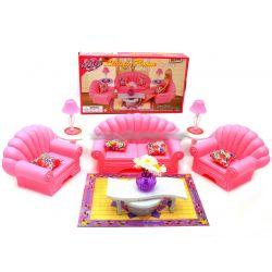 SALON VINTAGE fotele lampy meble dla Barbie EduCORE Dla Dzieci