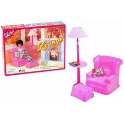 Fotel z lampą ROSE meble dla Barbie EduCORE Dla Dzieci