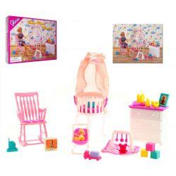 DZIECKO pokój dziecka bujany fotel mebelki Barbie EduCORE Dla Dzieci