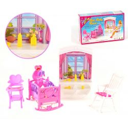 DZIECKO kołyska fotel szafa mebelki Barbie EduCORE Mebelki dla lalek