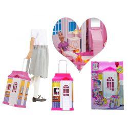DOMEK dla lalki z oświetleniem meble dla Barbie EduCORE Dla Dzieci