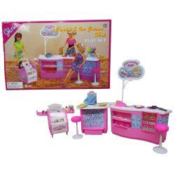 LODZIARNIA cukiernia meble dla Barbie EduCORE Dla Dzieci