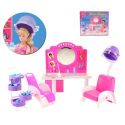 Fryzjer fryzjerka salon urody mebelki Barbie EduCORE Dla Dzieci