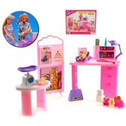 DOKTOR LEKARZ gabinet lalka mebelki Barbie EduCORE