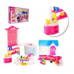 PRZEDSZKOLE EVI szkoła mebelki Barbie EduCORE Mebelki dla lalek