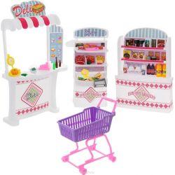 SUPERMARKET sklep lada kasa mebelki Barbie EduCORE Mebelki dla lalek