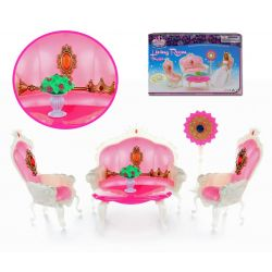 Salon królewski KING księżniczka Barbie EduCORE Mebelki dla lalek