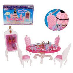 Jadalnia królewska KING księżniczka Barbie EduCORE Dla Dzieci