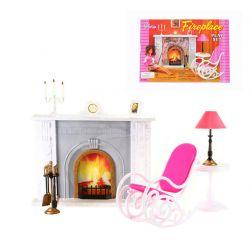 KOMINEK FOTEL bujany świece mebelki Barbie EduCORE Dla Dzieci